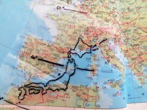 日本地図を欧州に置いてみた